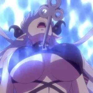 妖艶巨乳化したサキュバスが仲間を眼力で操り快楽の虜にしていく・・・ 無料アニメ