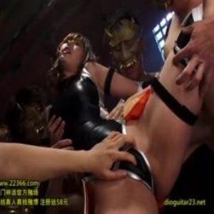 大量の媚薬によって淫乱化したくノ一が男たちのチ○ポをアヘ顔で激しく求めていく・・・
