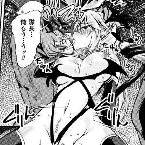 サキュバス化した女騎士隊長が部下たちを誘惑し搾精していく・・・